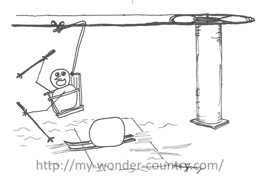 ski-lift-snowman