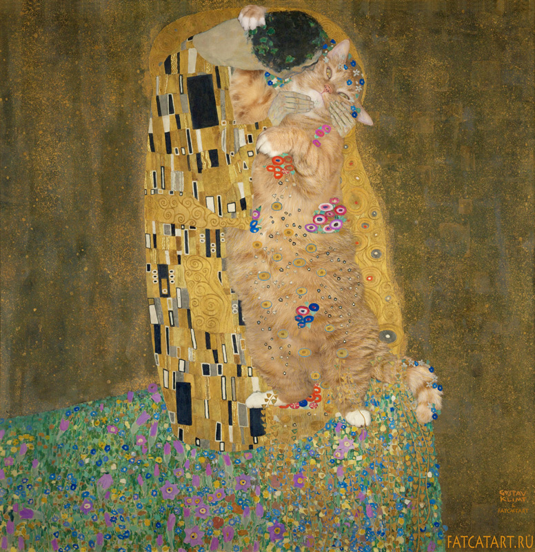 Klimt_-_The_Kiss-cat-w